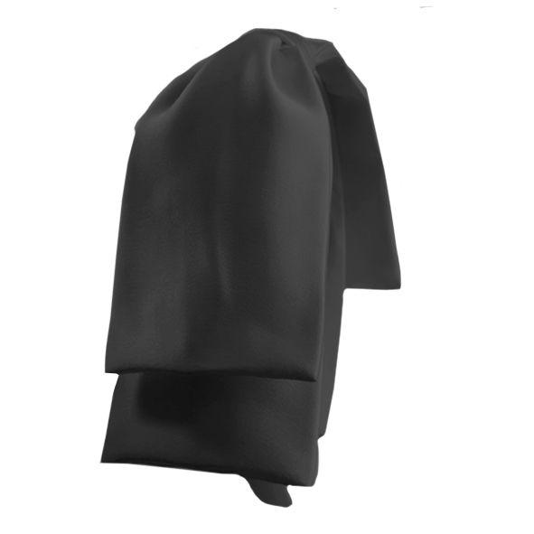 Tiara Maxi Laço Camadas Cetim Preto