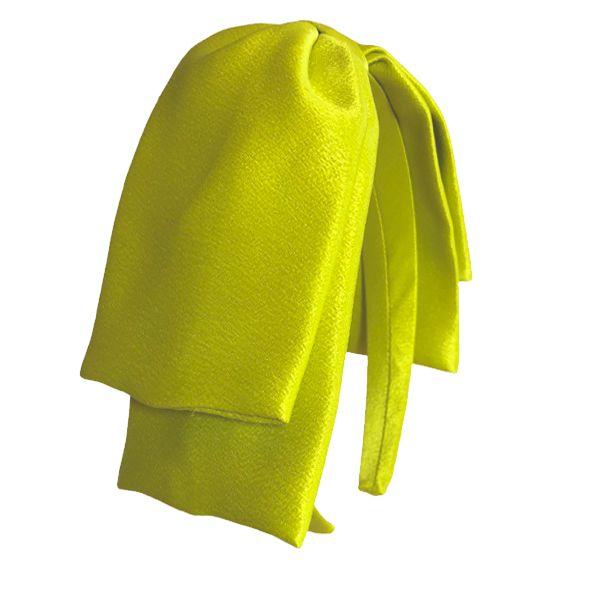 Tiara Maxi Laço Camadas Lateral Limão Siciliano