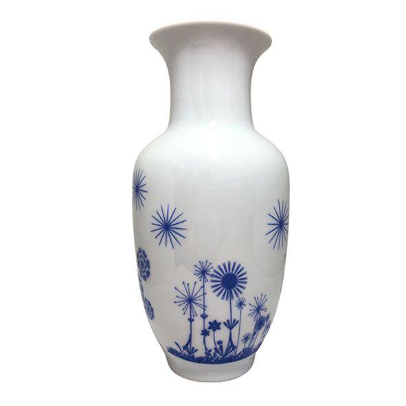 Vaso M Flores Dente-de-Leão Azul