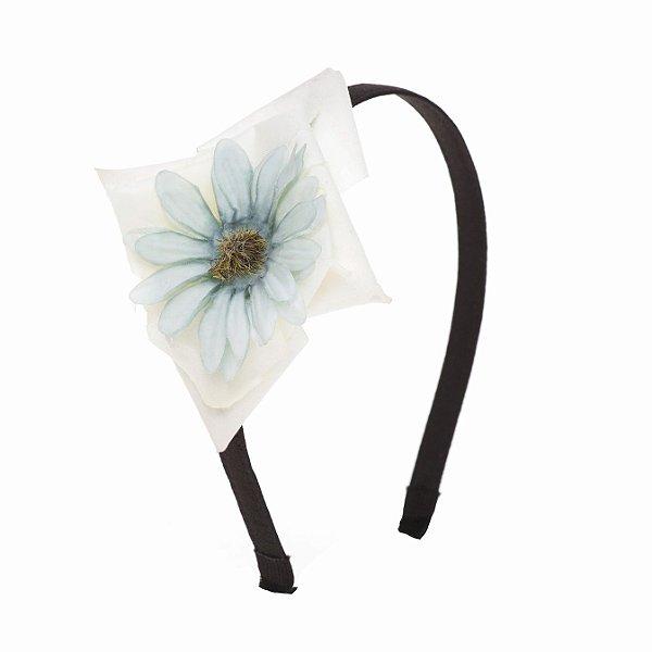 Tiara Flower Drop Azul