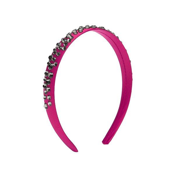 Tiara de Brilho Cetim Sparkle  Pink