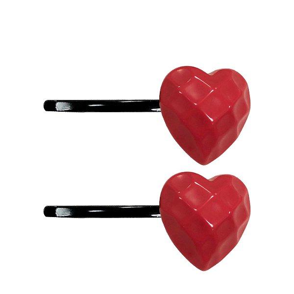 Dupla de Grampos com Coração