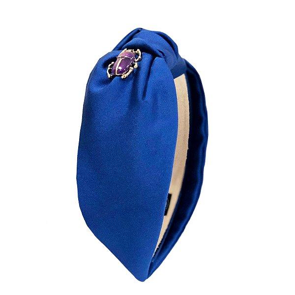 Turbante Azul Klein Besouro Roxo