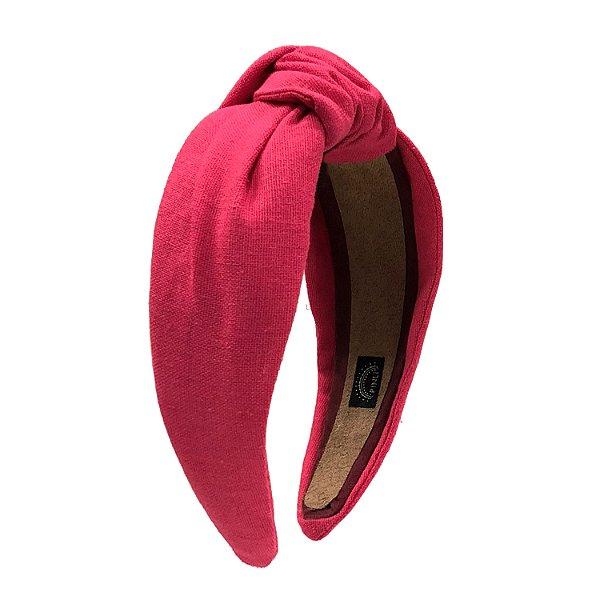 Turbante de Linho Liso Pink