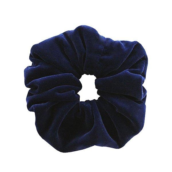 Scrunchie de Veludo Azul Marinho Liso