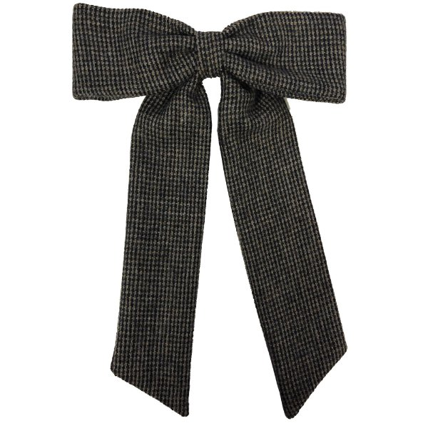 Fivela Maxi Laço de Tweed Mini Xadrez Azul