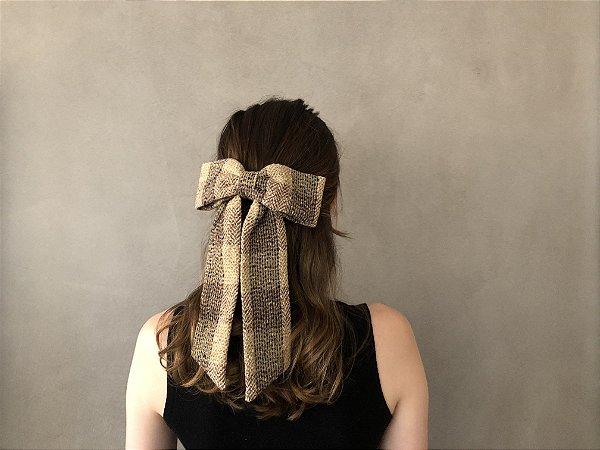 Fivela Maxi Laço de Lã Xadrez