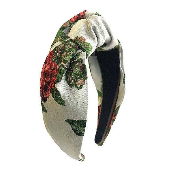 Turbante de Jacquard de Flores