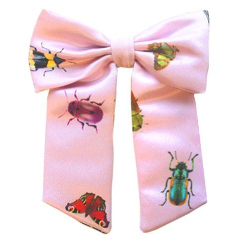Laço Infantil - Rosa Claro com Estampa de Insetos