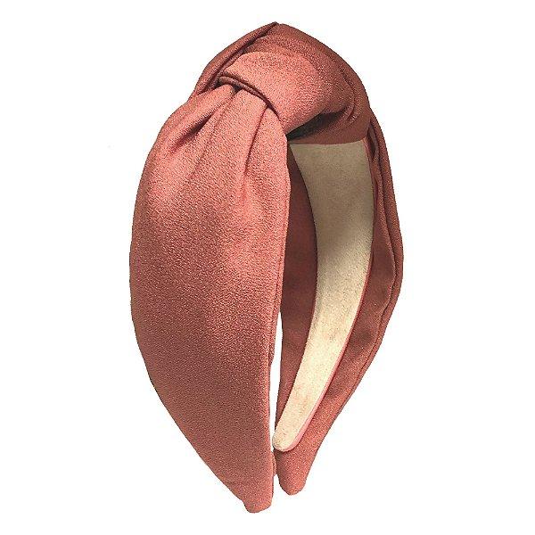 Turbante de Crepe Rosa Queimado