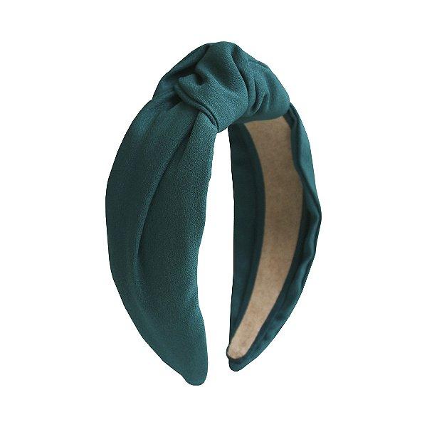 Turbante de Crepe Verde Escuro