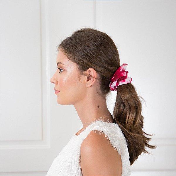 Elástico - Scrunchie Estampa Tie Dye Rosa