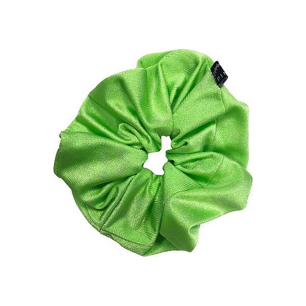 Elástico - Scrunchie Verde Neon com Brilho