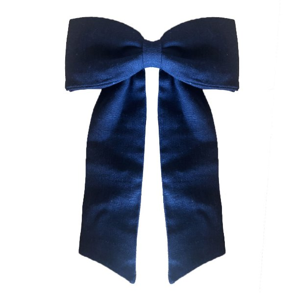 Fivela Maxi Laço de Linho Azul Marinho