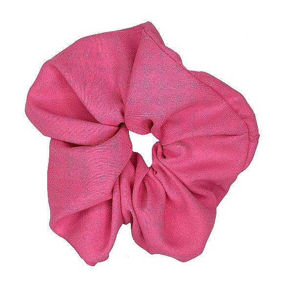 Elástico - Scrunchie de Crepe Rosa Claro