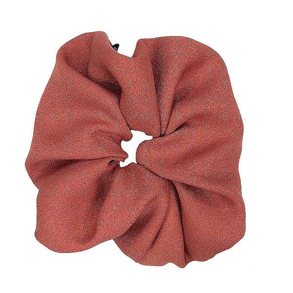 Elástico - Scrunchie de Crepe Rosa Queimado