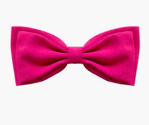 Fivela de Laço Duplo de Crepe Pink