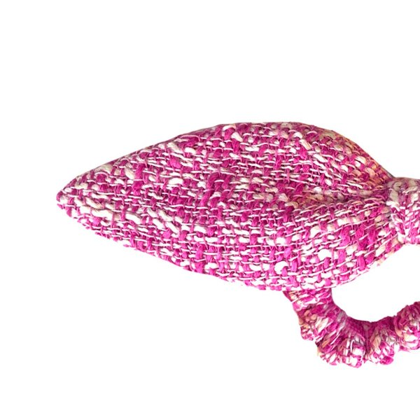 Elástico de Laço de Tweed Rosa