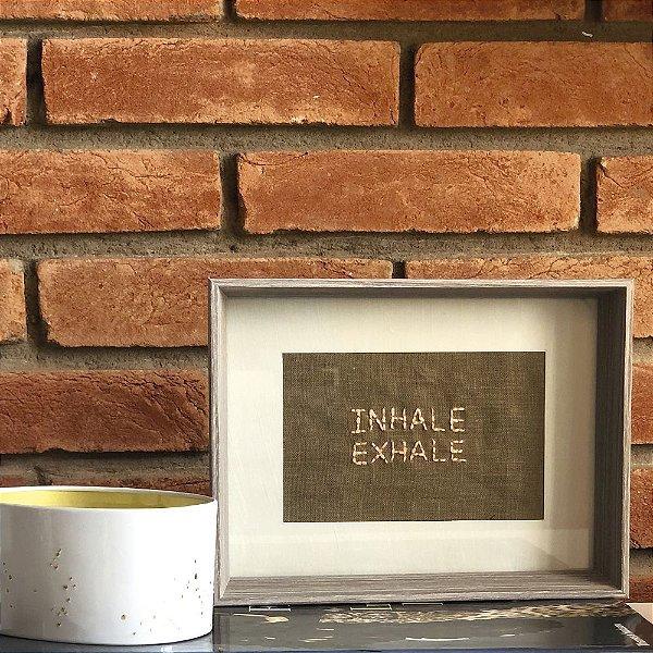 Quadro Cinza M INHALE/EXHALE