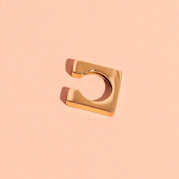 Piercing Square Dourado (Unitário)
