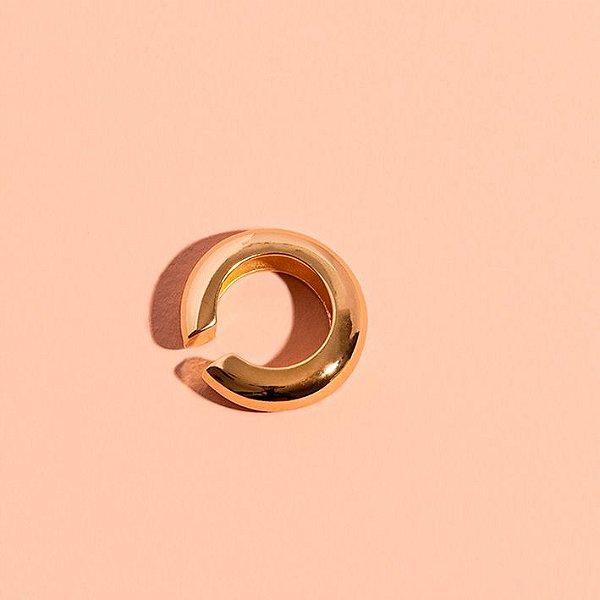 Piercing Round Liso Dourado M (Unitário)