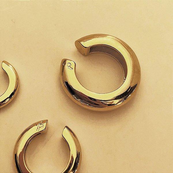 Piercing Round Liso Dourado XL