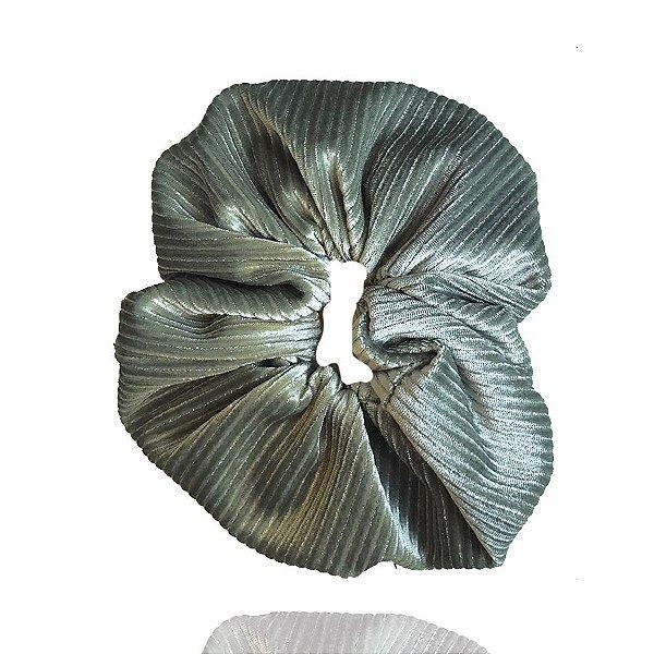 Elástico - Scrunchie Veludo Cotelê Verde