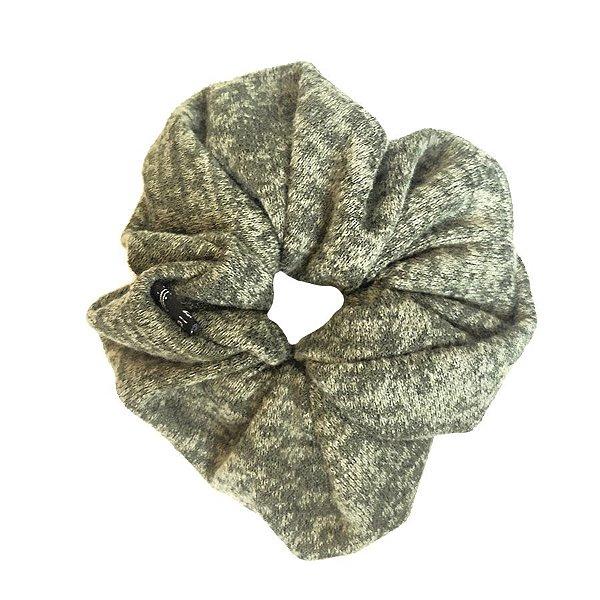 Elástico - Scrunchie de Malha Verde Mescla