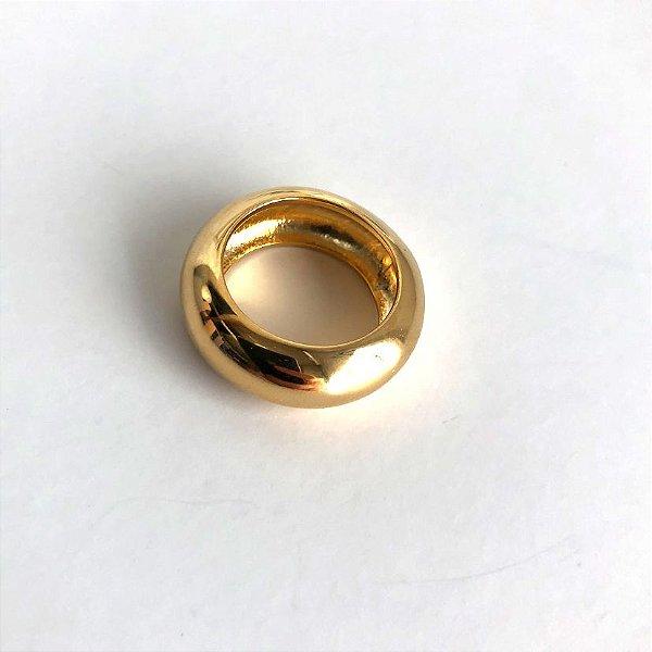 Anel de Bambolê Redondo Dourado
