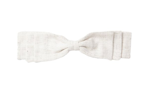 Fivela de Laço Camadas Tweed Branco Mescla