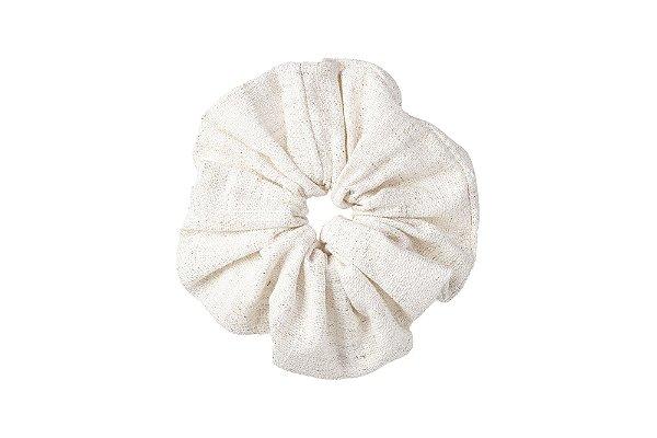 Elástico - Scrunchie Tweed Off-White Mescla