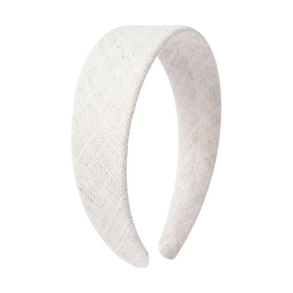 Tiara Flat Tweed Branco