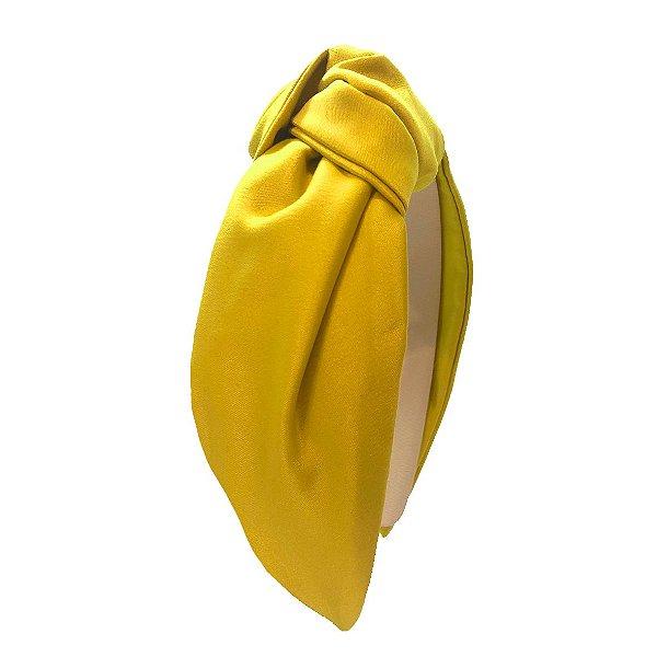 Turbante de Cetim Limão Siciliano