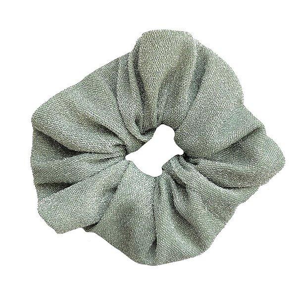 Elástico - Scrunchie de Lamê Verde Claro