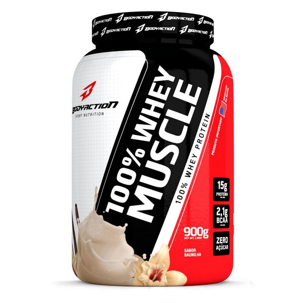 100% Whey Muscle 900g