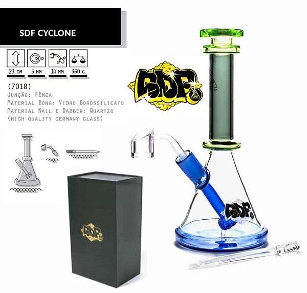 Squadafum | Oil Bong de vidro Cyclone 23cm - Linha Premium