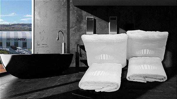 Jogo de toalha Bordado Logo Arena MRV - Enxovart