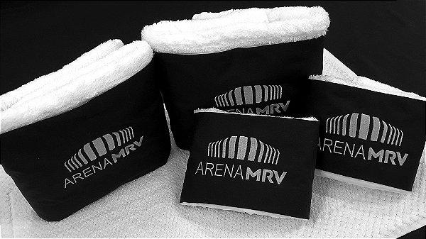 Jogo de toalha Bordado Arena MRV - Enxovart
