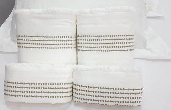 Jogo de toalha Bordado Sianinha - Enxovart