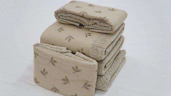 Jogo de toalha Bordado Outono - Enxovart