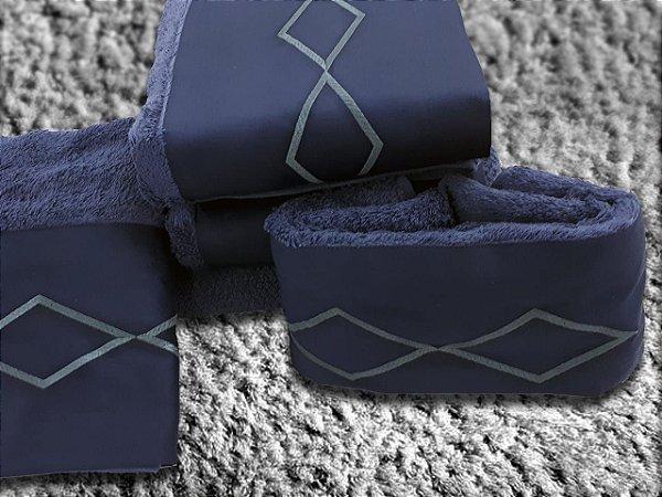 Jogo de toalha com aplique Percal 200 Fios Importado Bordado Diamond – Enxovart
