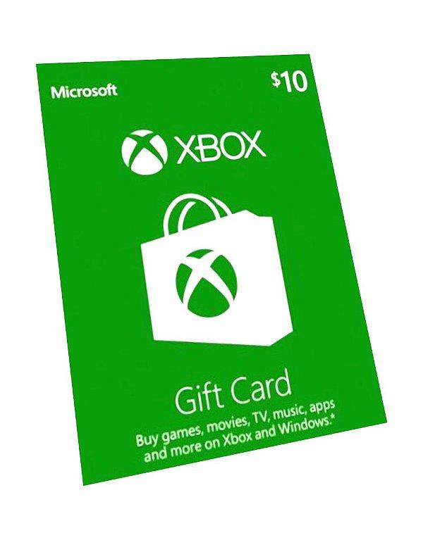 Cartão Presente Pré Pago Xbox Live R$ 100 Reais