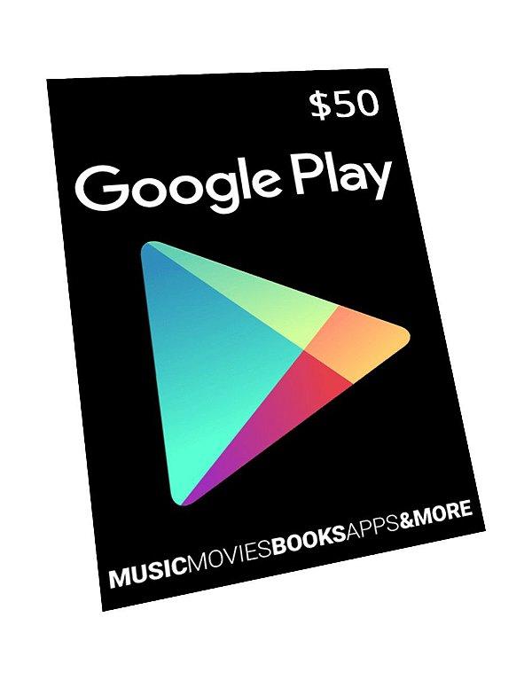 Vale-Presente Google Play R$ 15