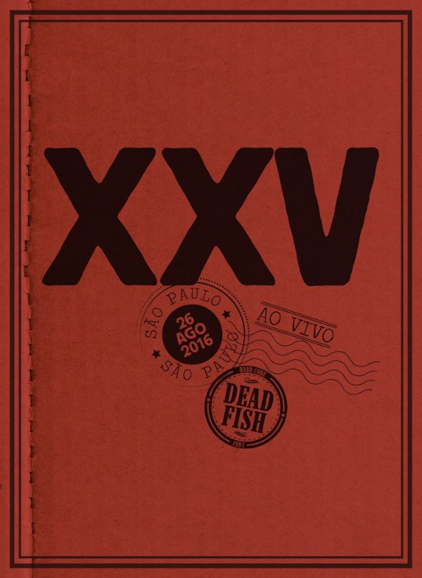 """Dead Fish """"XXV Ao Vivo Em SP"""" DVD Digipack"""