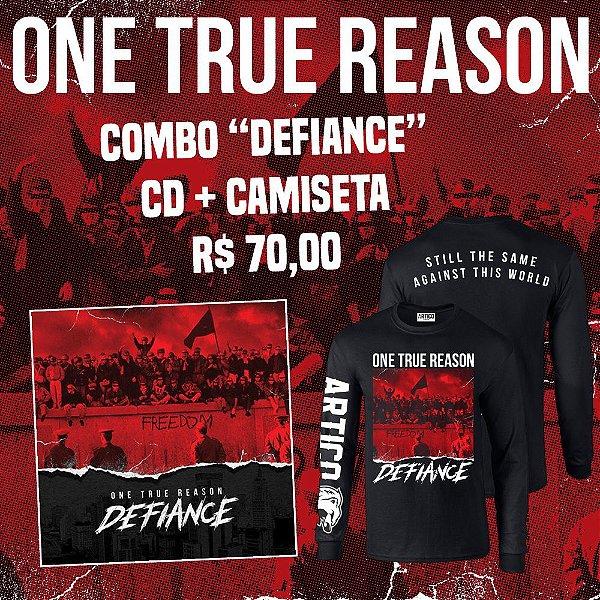 "Combo ONE TRUE REASON - Camiseta manga longa  + CD ""Defiance"""