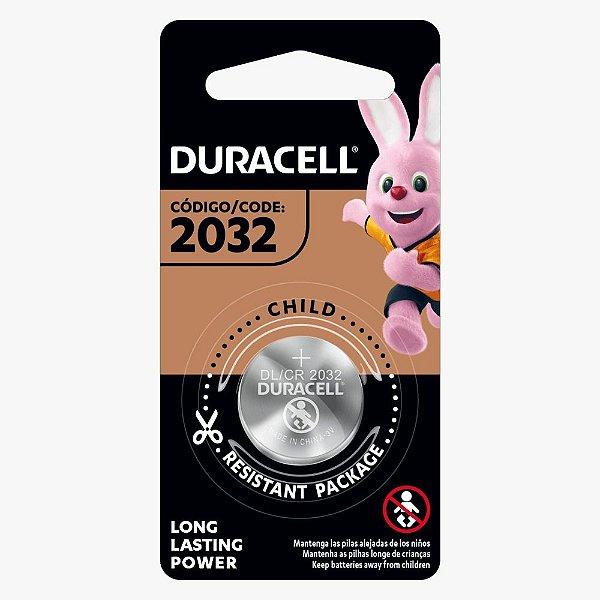 Pilha / Bateria alcalina CR 2032 moeda - Duracell