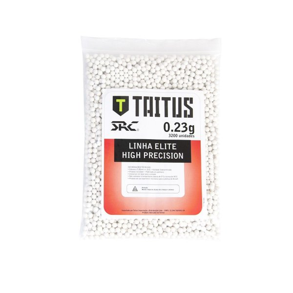 BBs SRC Taitus 0,23g Brancas – Pacote com 3200 bolinhas
