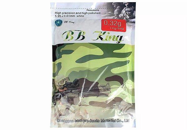 BBs BBKing 0.32g – Pacote de 1 Kg com 3125 bolinhas