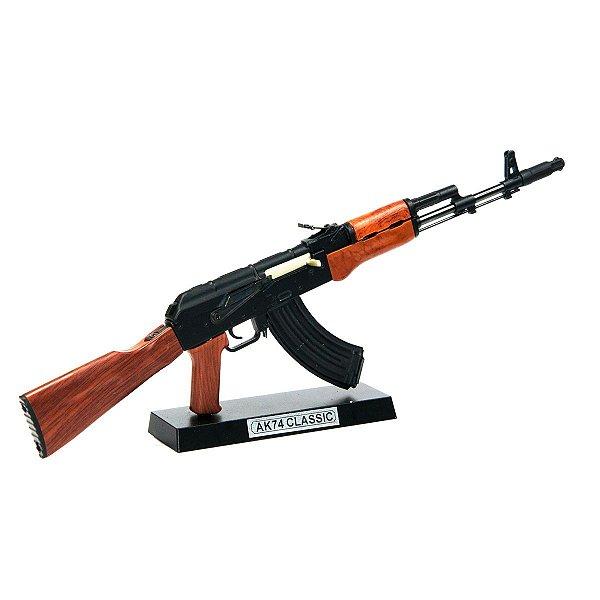 Miniatura Decorativa em Metal - AK74 Classic