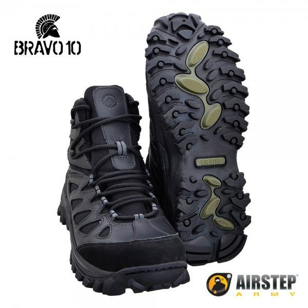 HIKING BOOT 5700-1 AIRSTEP BRAVO 10 BLACK
